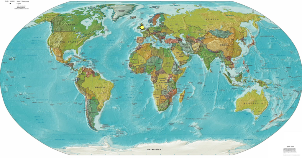 The Extraordinary Geographic Heritage In My DNA Leigh Bella St - Map of the whole world with names